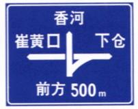 道路分布指路牌