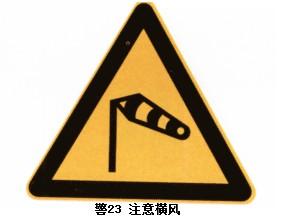 注意横风警示标志牌