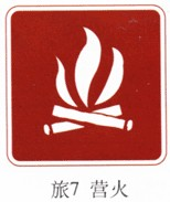 营火指示标志牌