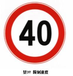 限制速度标志