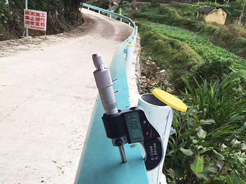 乡村公路喷塑护栏安装